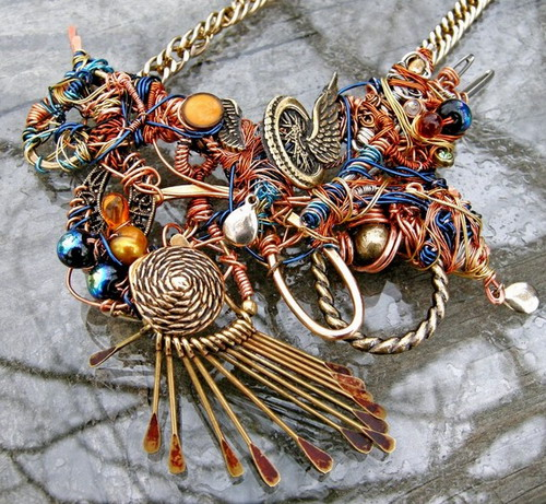 wire, beads