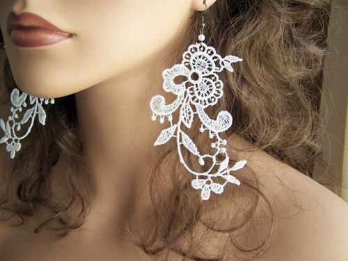 embroidered lace jewellery