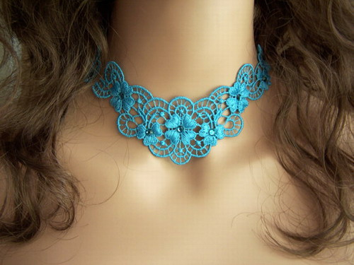 lace emboidered jewellery