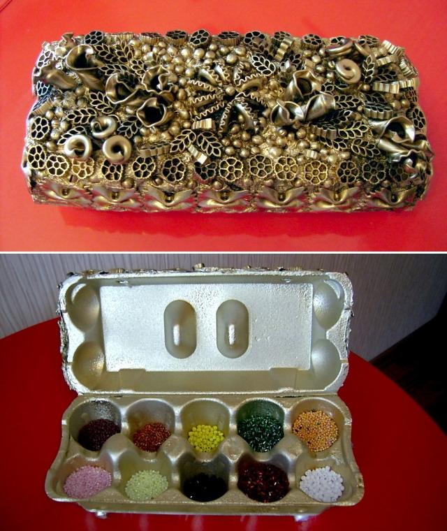 hand-made beads box