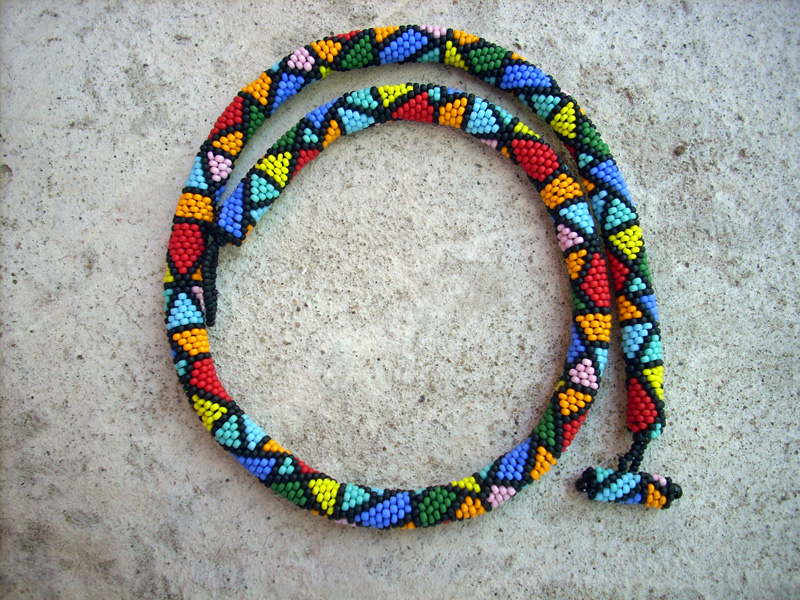 bead rope crochet technique