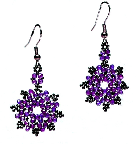 free pattern for beautiful beaded earrings magic