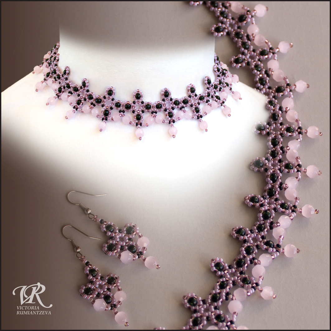 Free pattern for beaded necklace pink flamingo beads magic