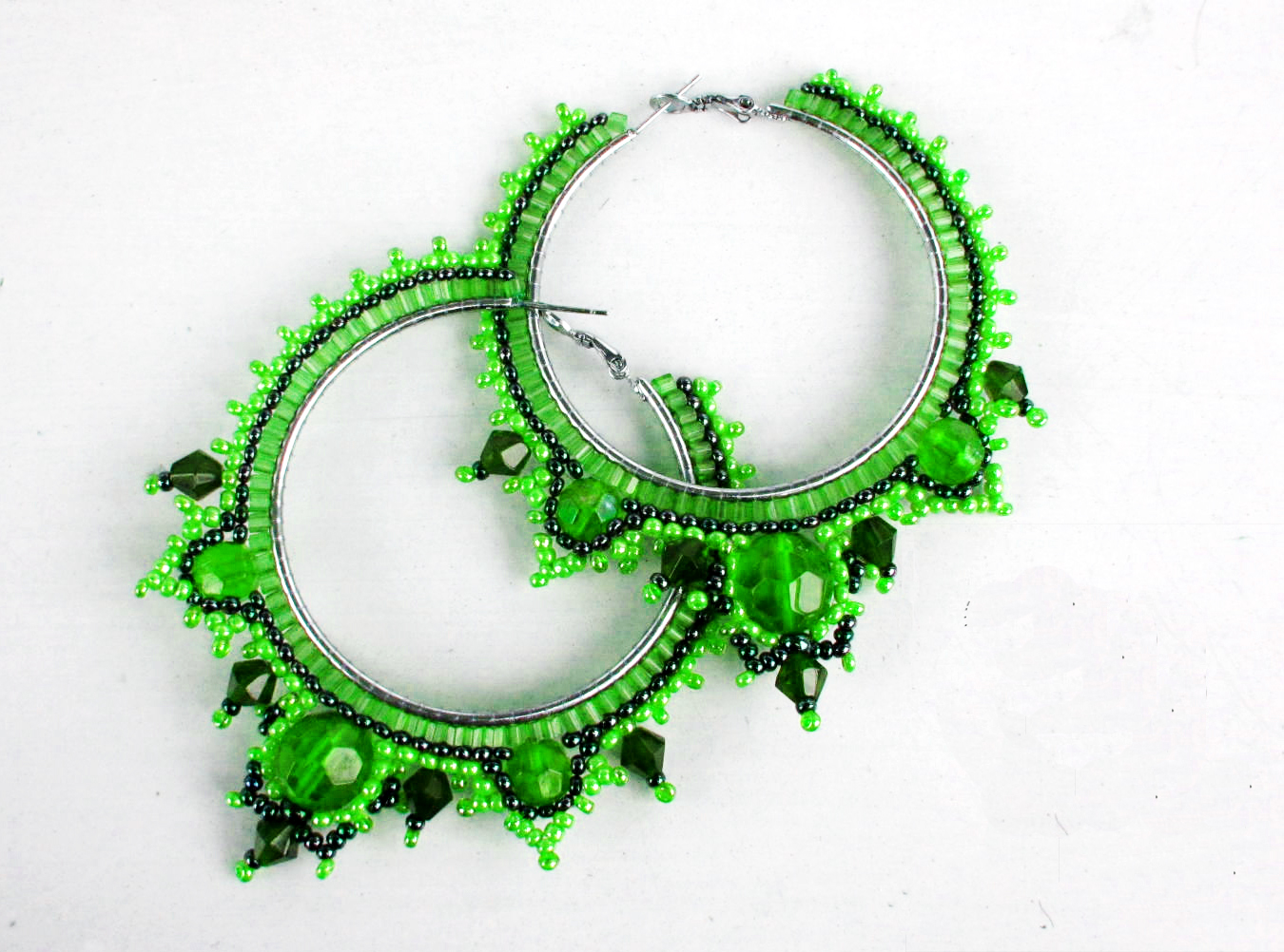 free pattern for earrings green tea magic