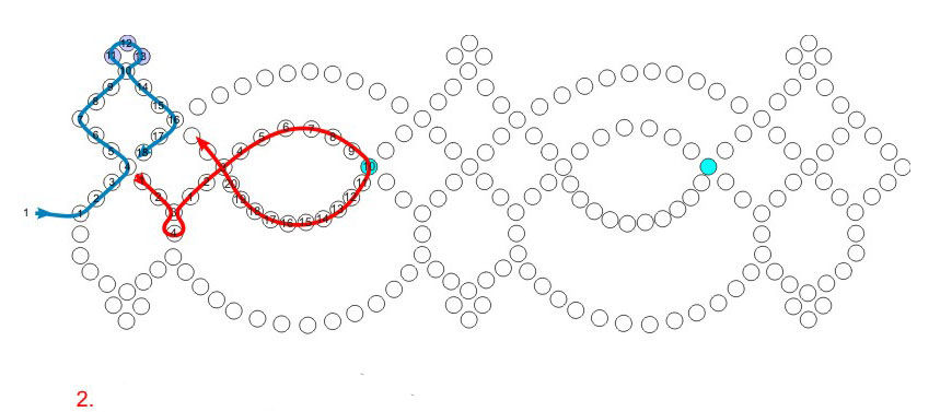 Схема колье кружева