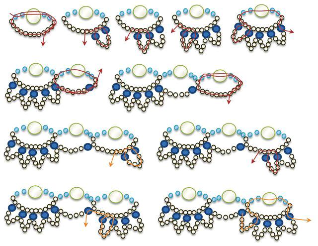 бисер схемы колье из бисера и полудрагоценных камней - Практическая схемотехника.