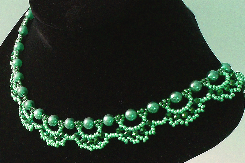 Free Pattern For Beautiful Beaded Necklace Emerald City U Need