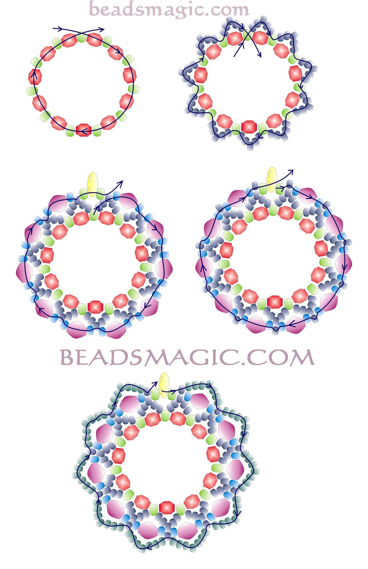 free pattern for earrings berry juice magic
