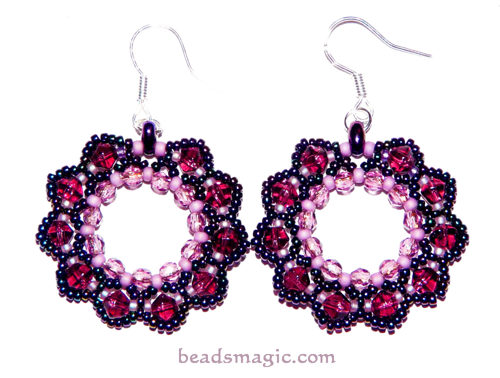 free pattern for earrings berry juice magic