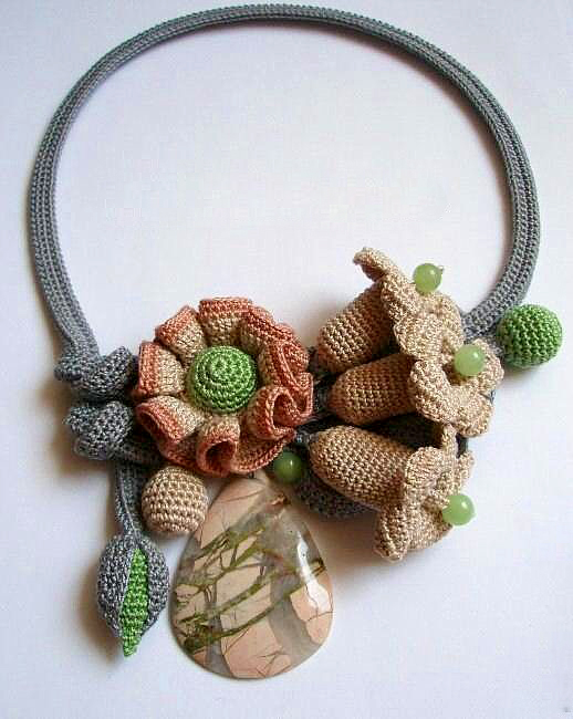 ... is jewelry artist from russia she crochets beautiful unique jewelry