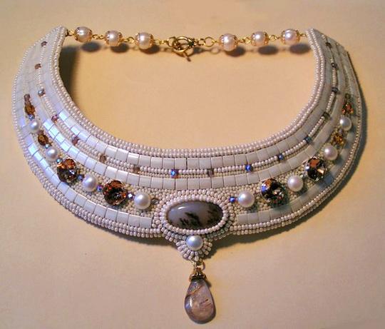 274 Красивые бисерные украшения Марины Самотолковой.