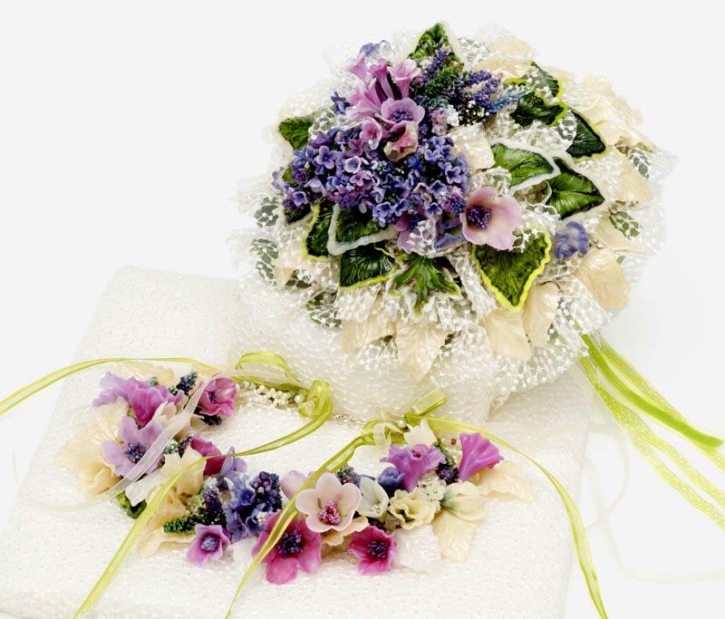 Floral Wedding Set by Barbara Caraway