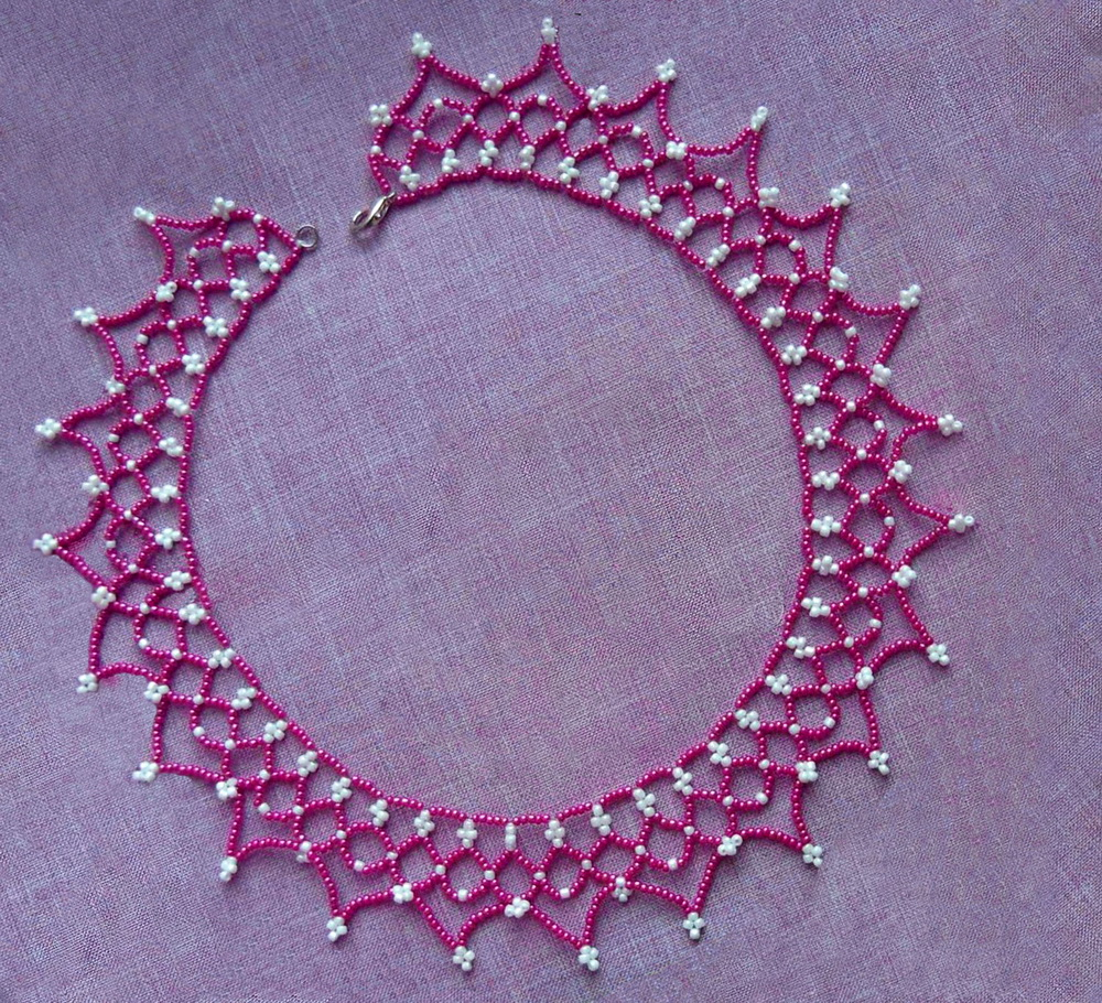 beadsmagic free pattern for pretty beaded necklace junona
