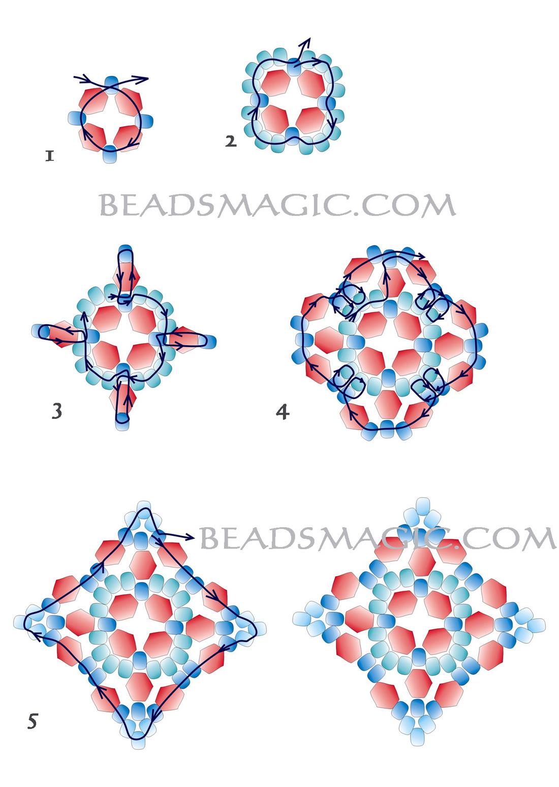 Free Pattern For Beautiful Beaded Earrings Mia Beads Magic