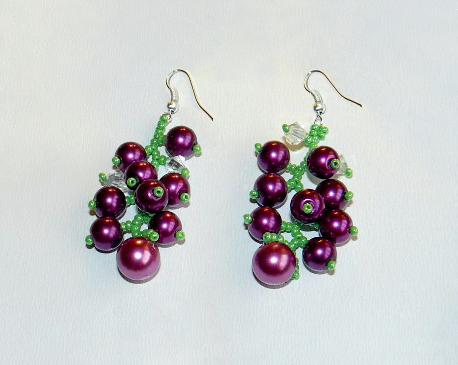 beadsmagic free pattern for beaded earrings currant