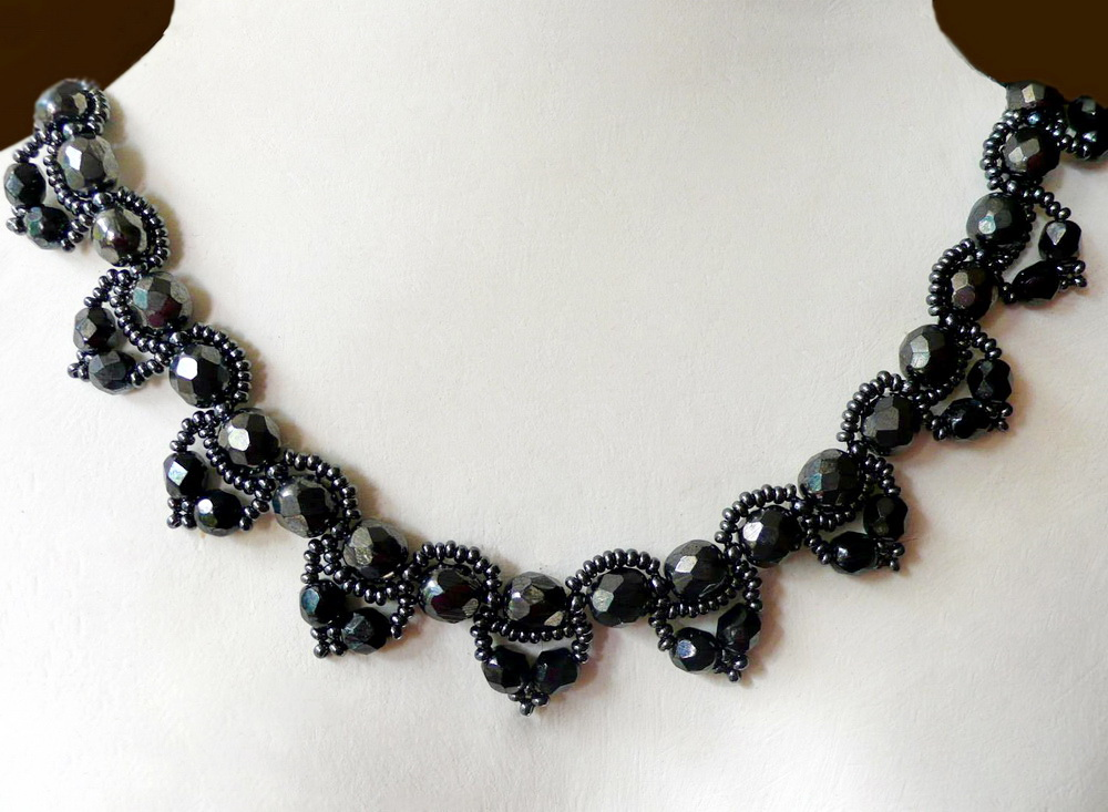 free pattern for beaded necklace chantal magic