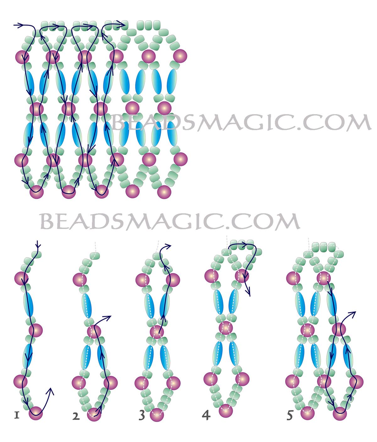 Покемоны схема плетения из бисера