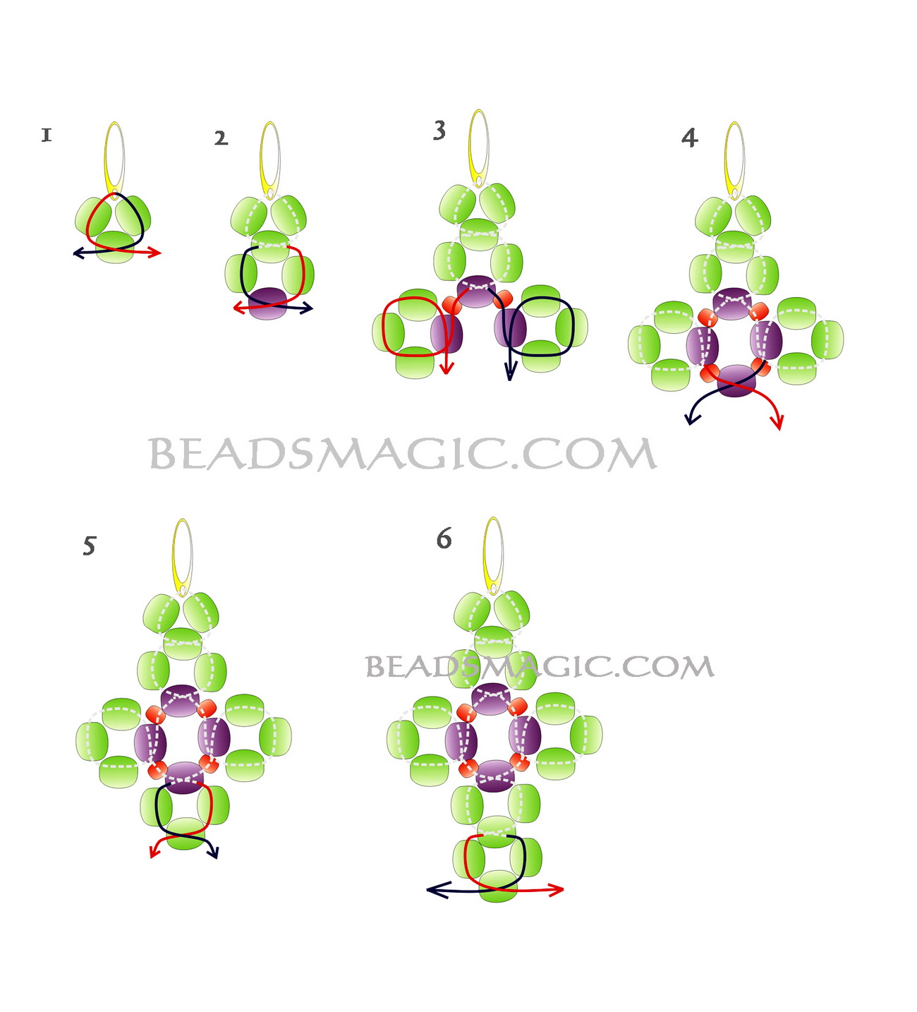 free-beading-earrings-pattern-tutorial-2
