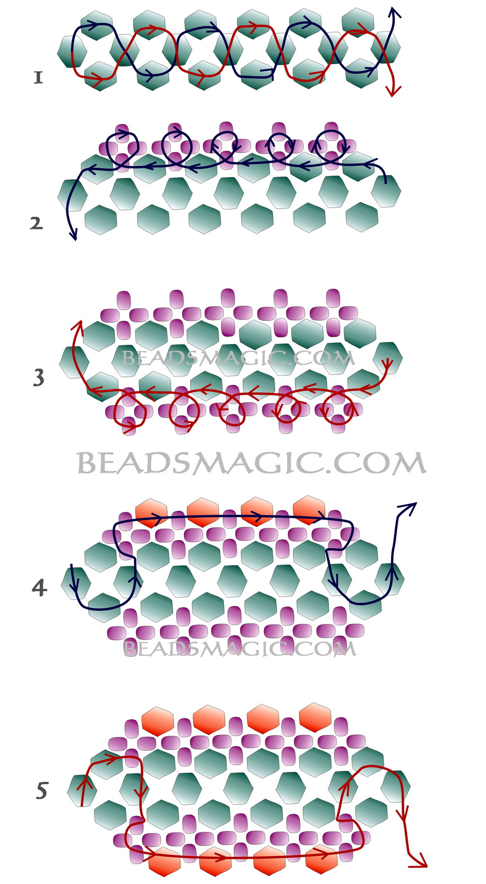 Free beading pattern for lazy susan bracelet mary lindell art