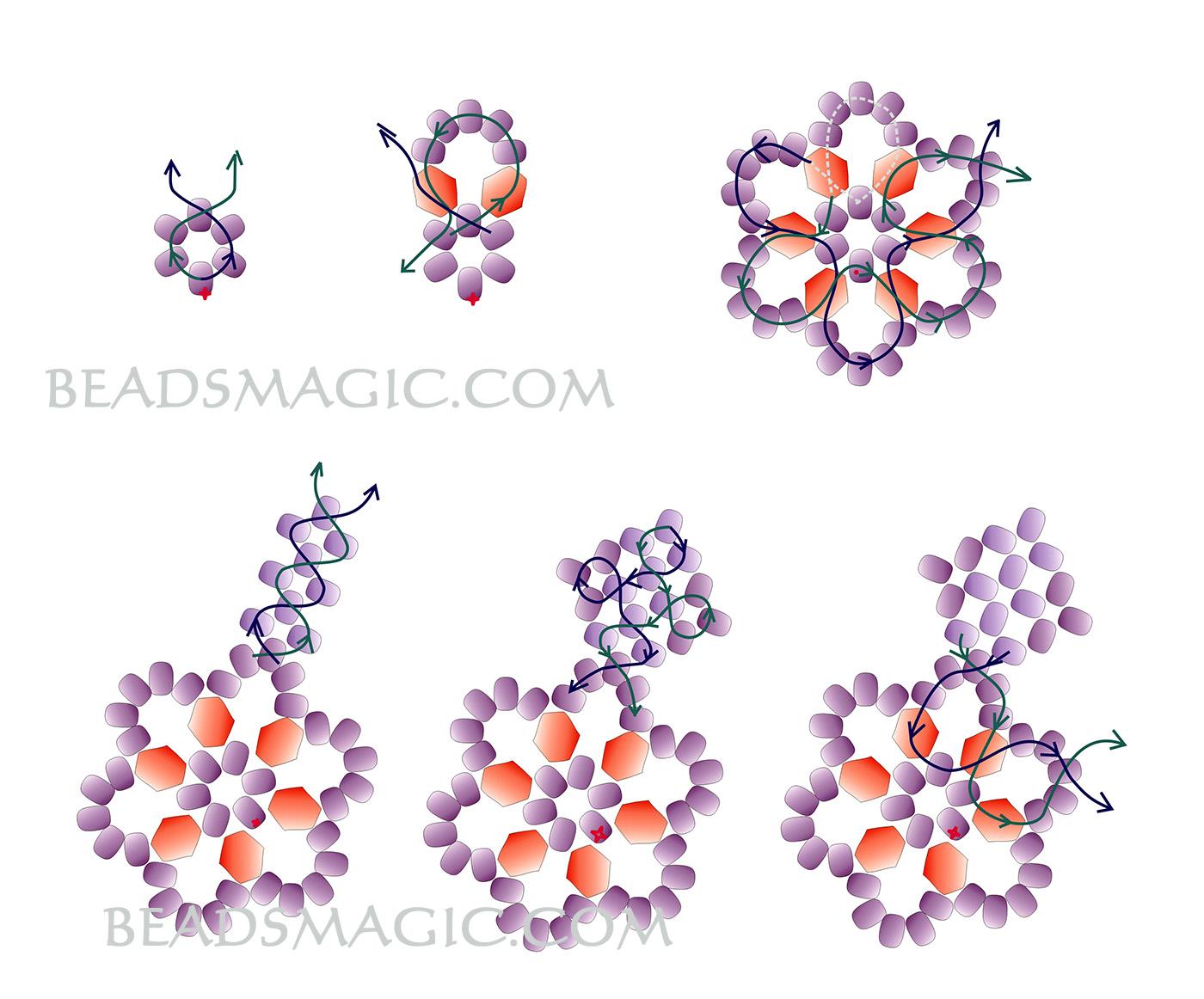 free-beading-snowflake-pendant-pattern-2-1