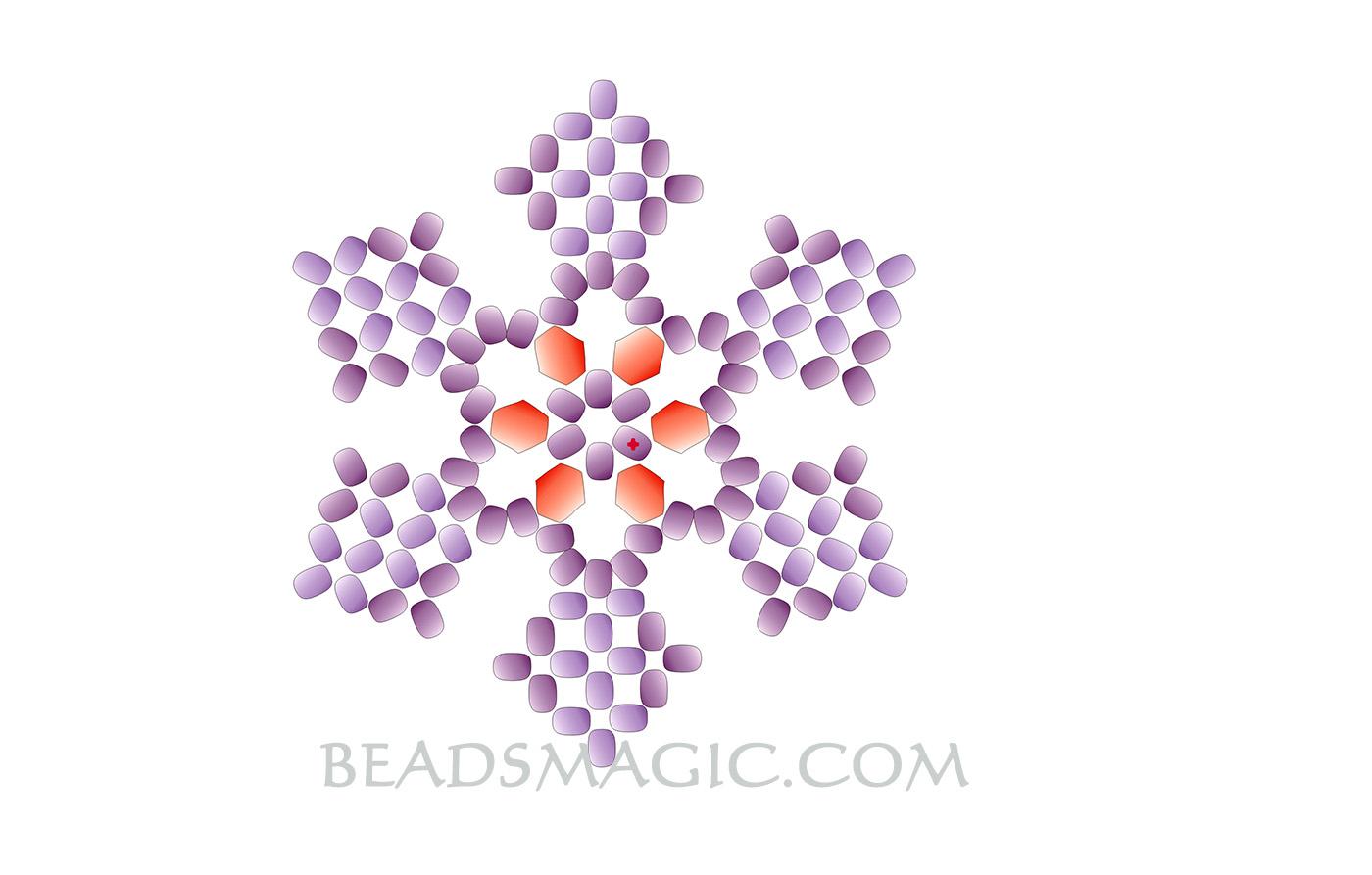 free pattern for snowflake pendant magic