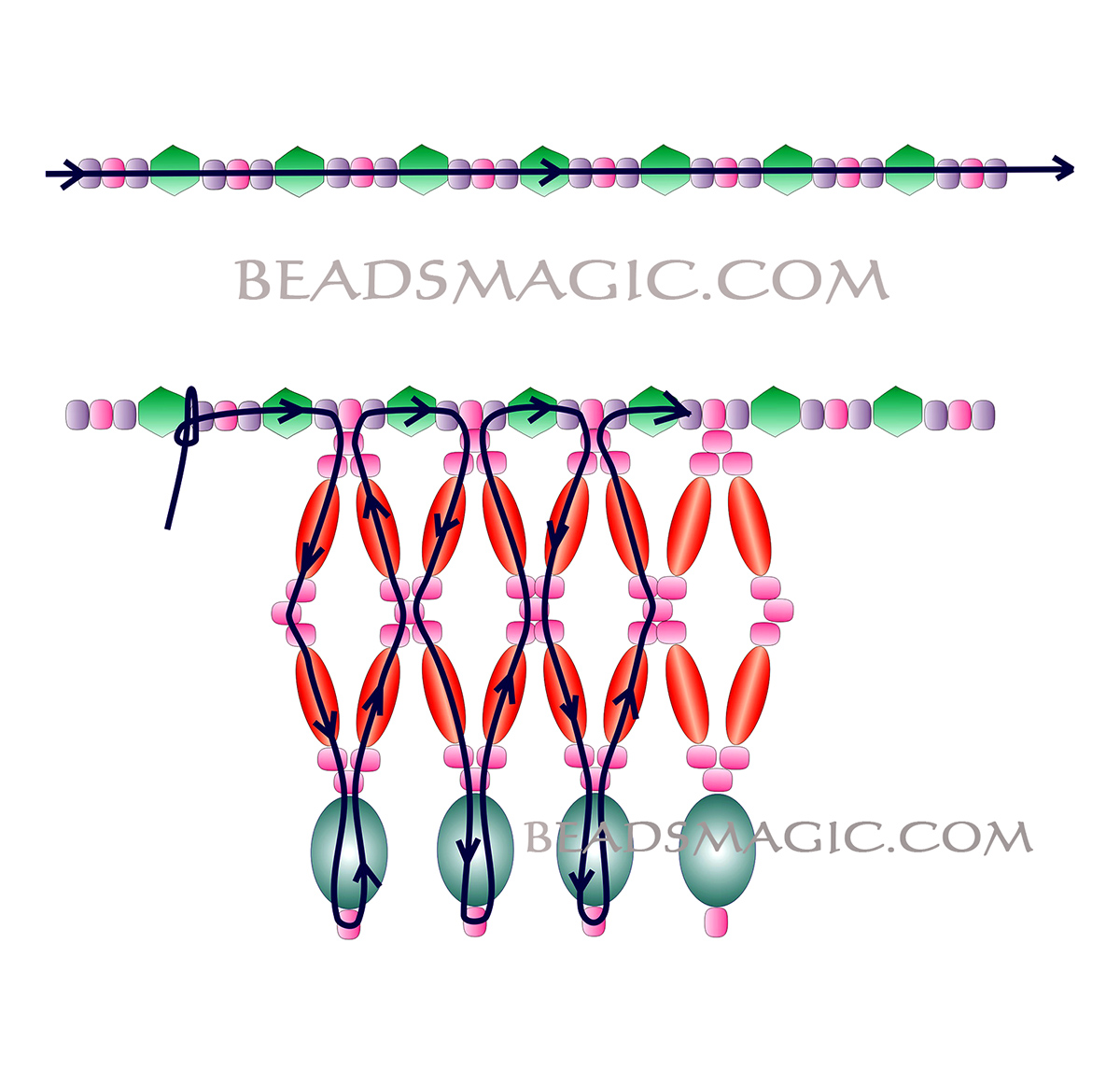 free-beading-tutorial-crystal-necklace-2