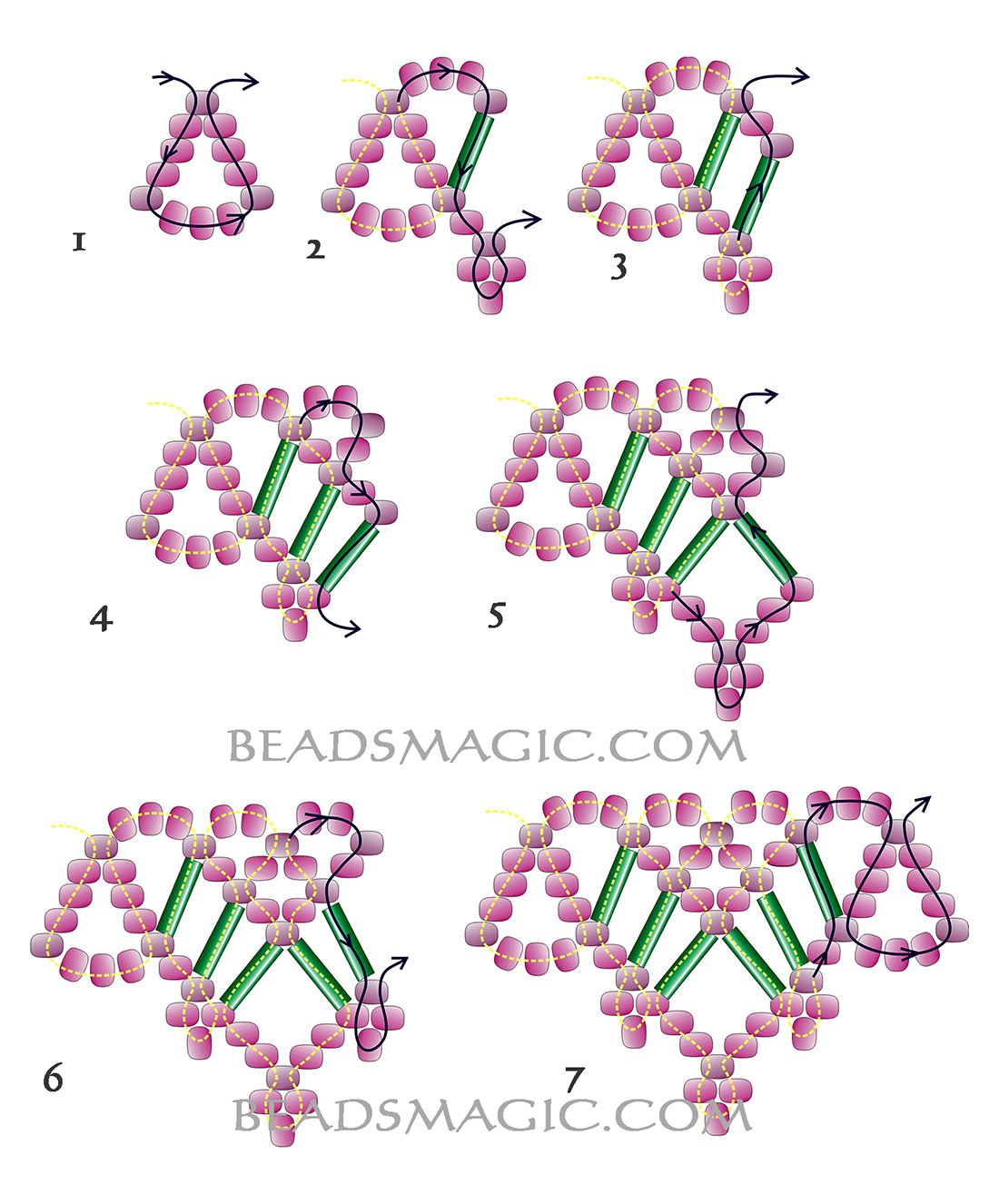 free-beading-necklace-tutorial-pattern-2