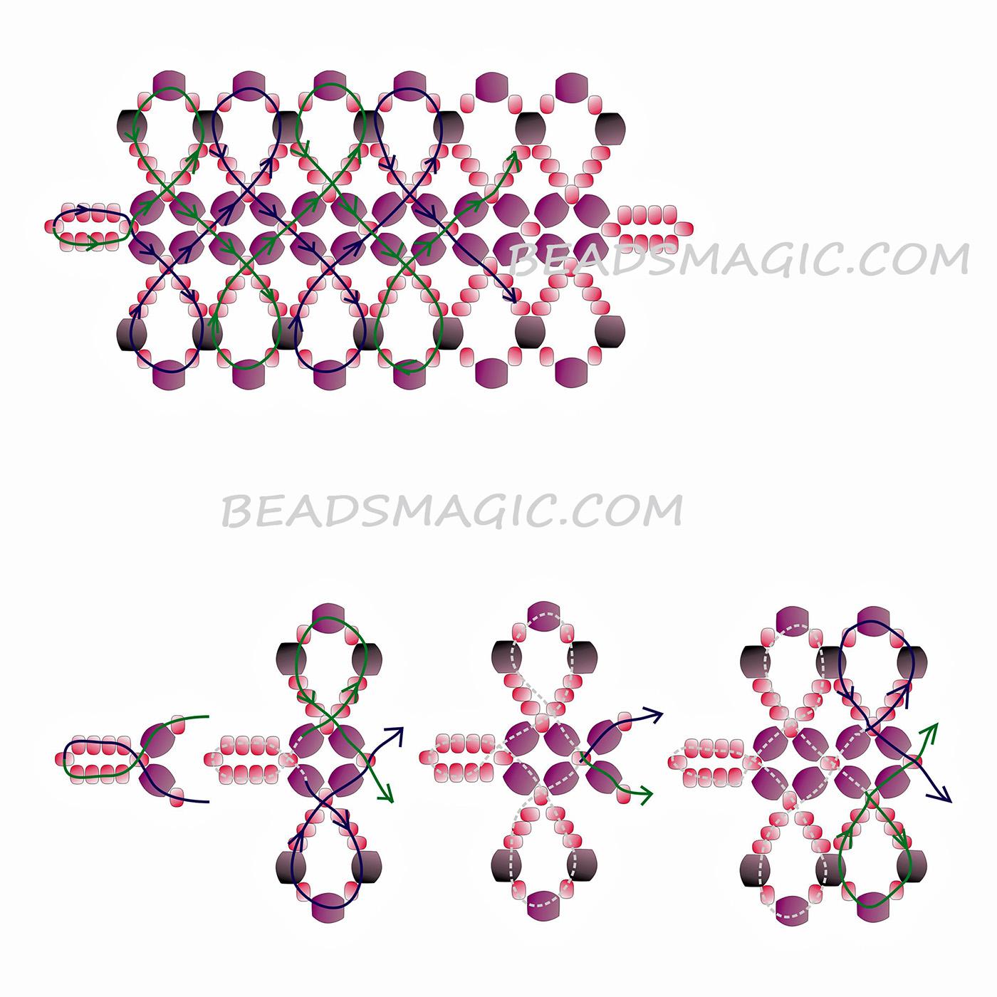 free-beading-bracelet-tutorial-pattern-2