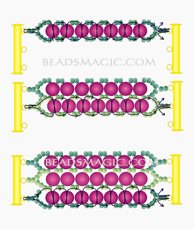 free-beading-pattern-bracelet-pearls-tutorial-2