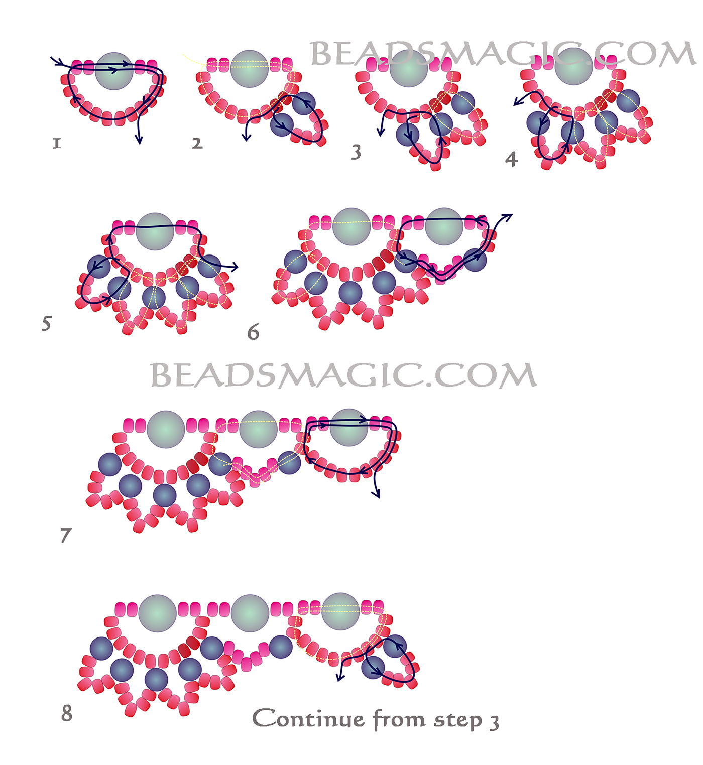 pony bead necklace instructions