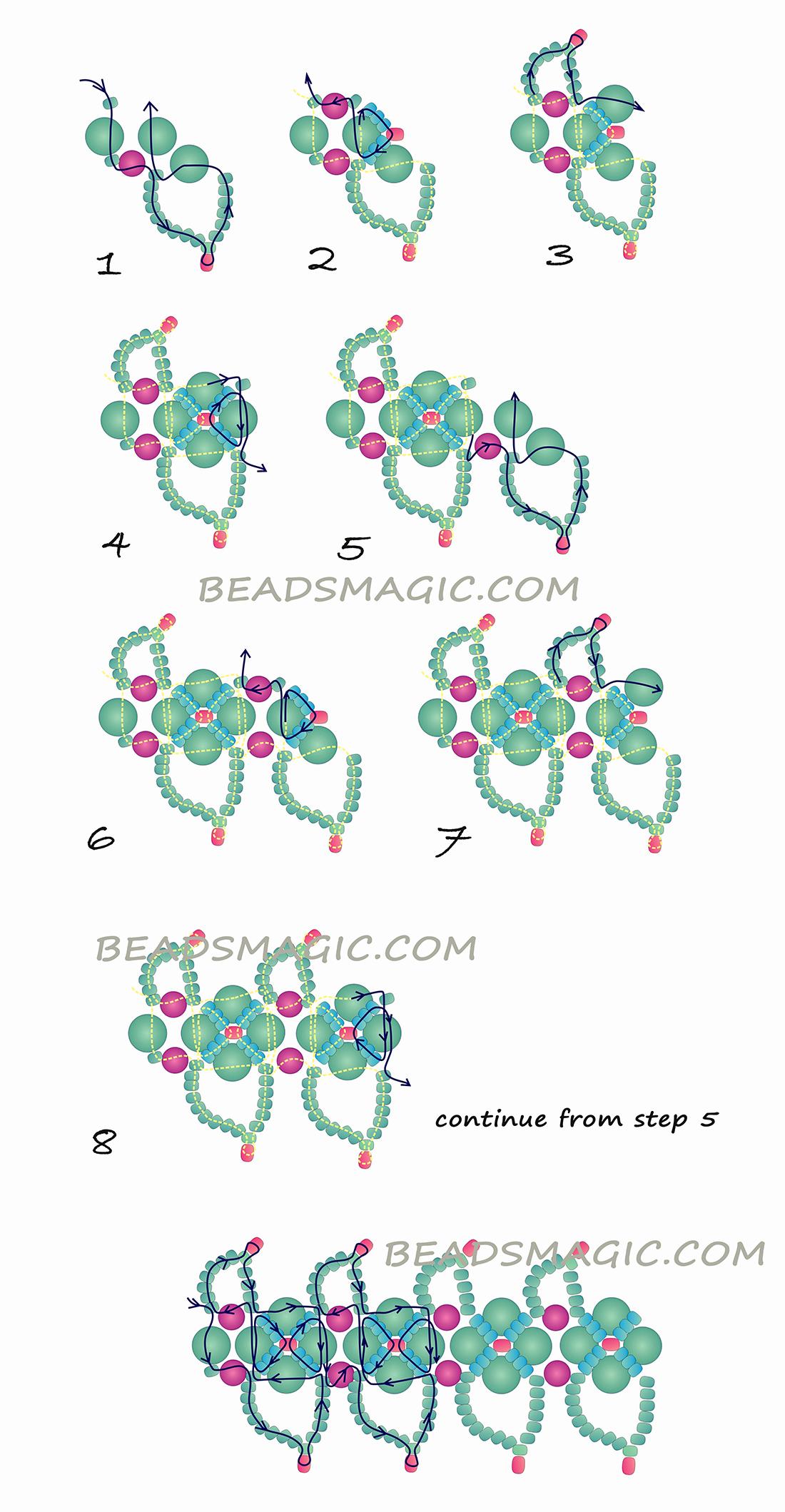 Схемы из бисера своими руками схема