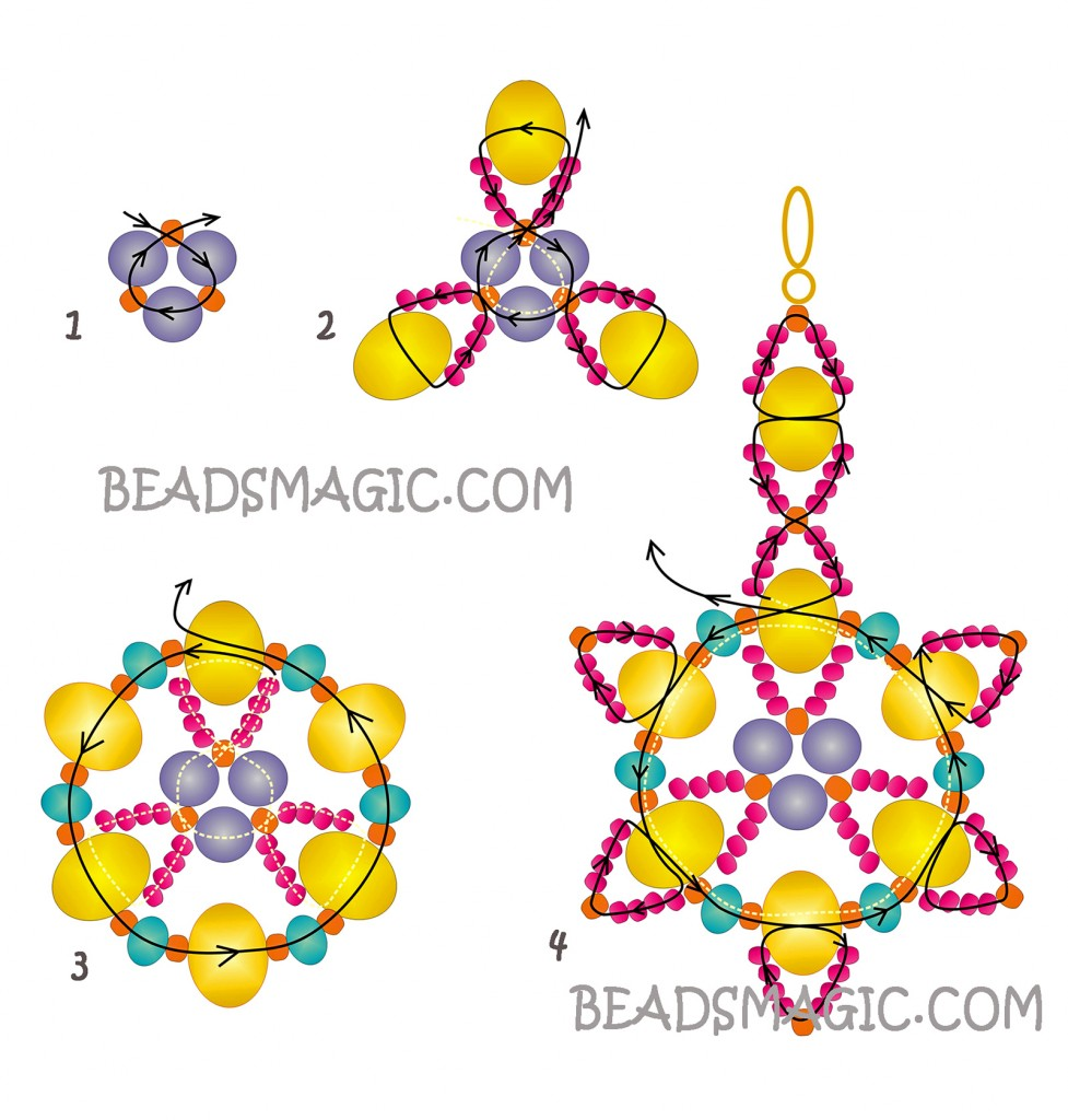 free-beading-pattern-earrings-tutorial-instructions-2