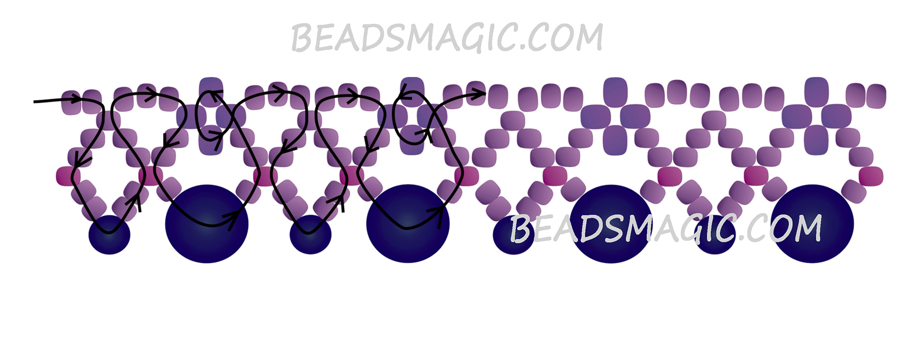 Free pattern for necklace Elegance Beads Magic