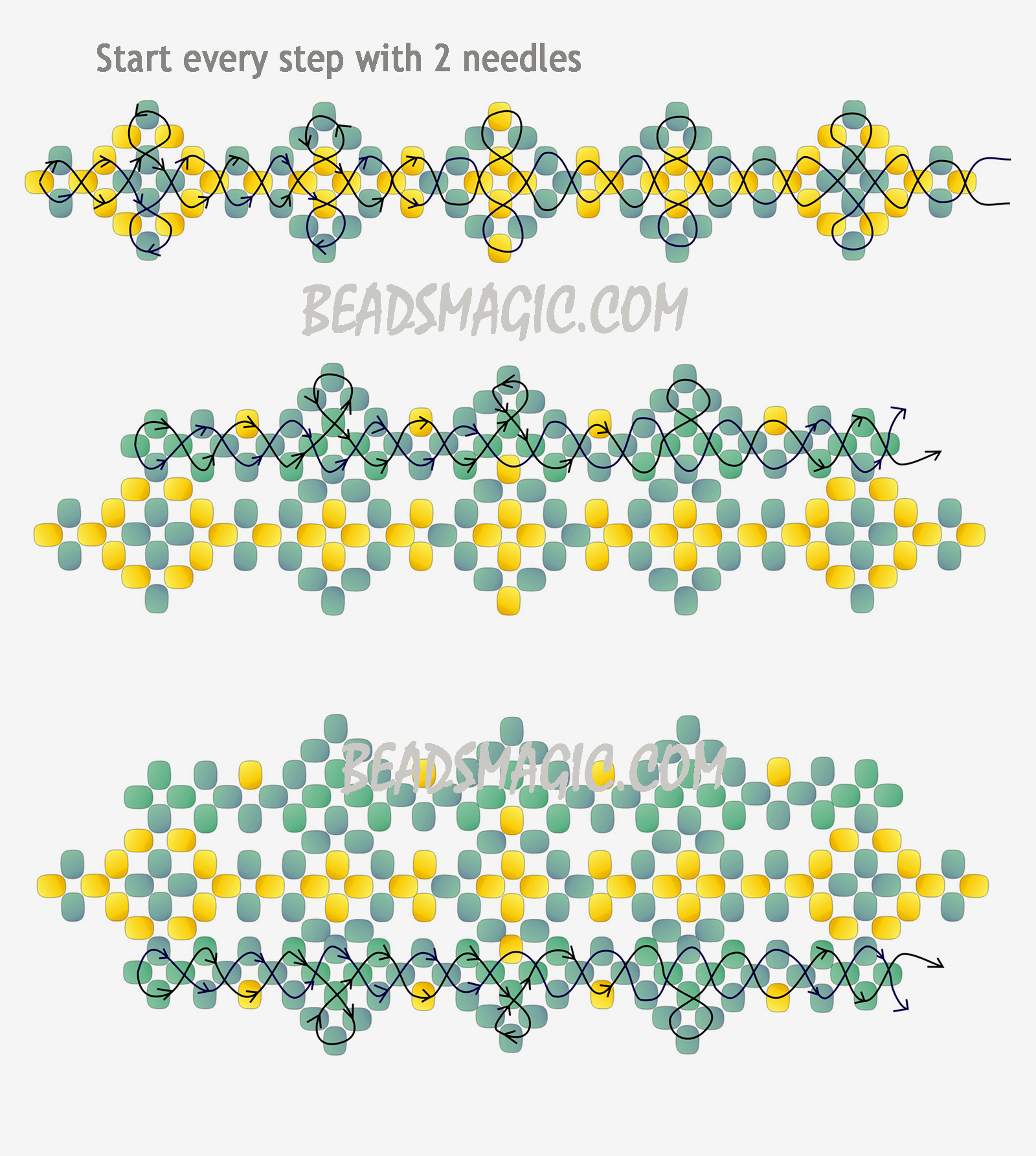 Beads instructions - Free Pattern Bracelet Tutorial Instructions 2