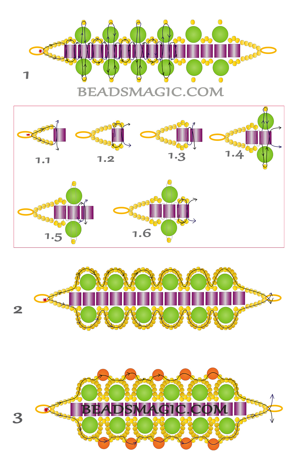 free-tutorial-beading-bracelet-pattern-instructions-2