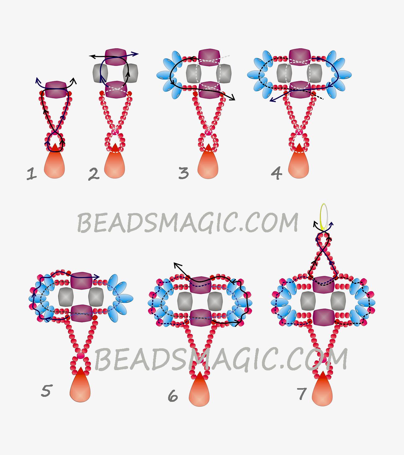 free-beading-tutorial-earrings-superduo-pattern-2