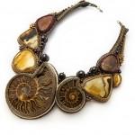 Beautiful jewelry with ammonite fossils