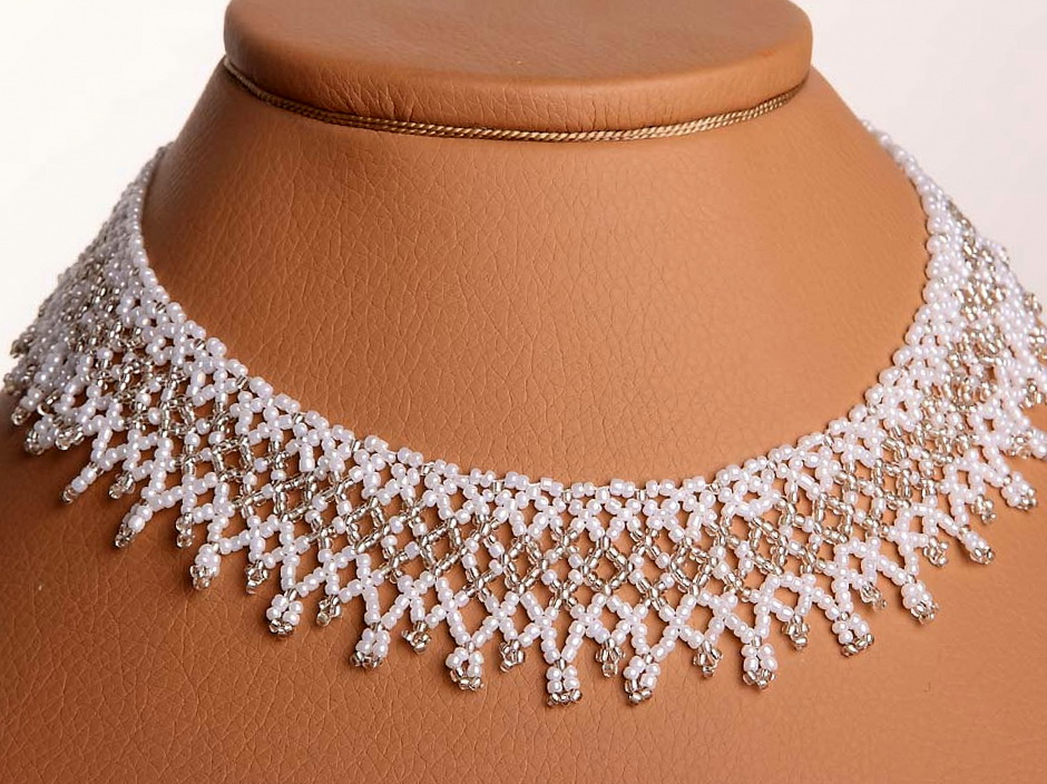 Free Pattern For Beaded Wedding Necklace Dia Beads Magic