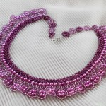 Free pattern for necklace Purple Rain