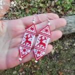 Free pattern for Christmas Earrings