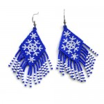 Free pattern for earrings Snowflakes