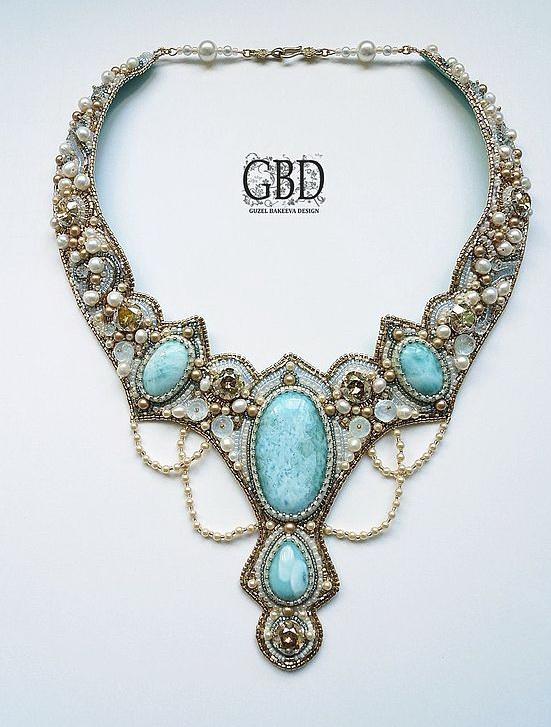 amazing bead embroidered jewelry by guzel bakeeva beads