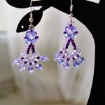 Free pattern for earrings Crocus