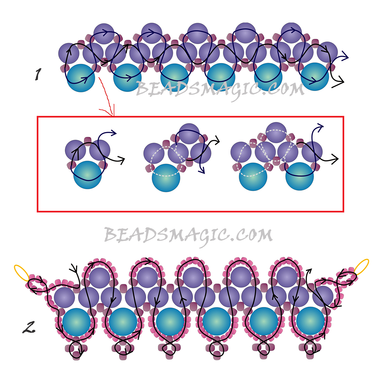 free-beading-pattern-necklace-tutorial-2
