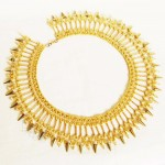 Free pattern for necklace Golden Dust
