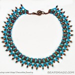 Free pattern for necklace Bird of Paradise