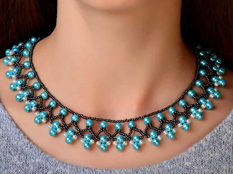 Free Beading Necklace Tutorial Pattern Instructions 2