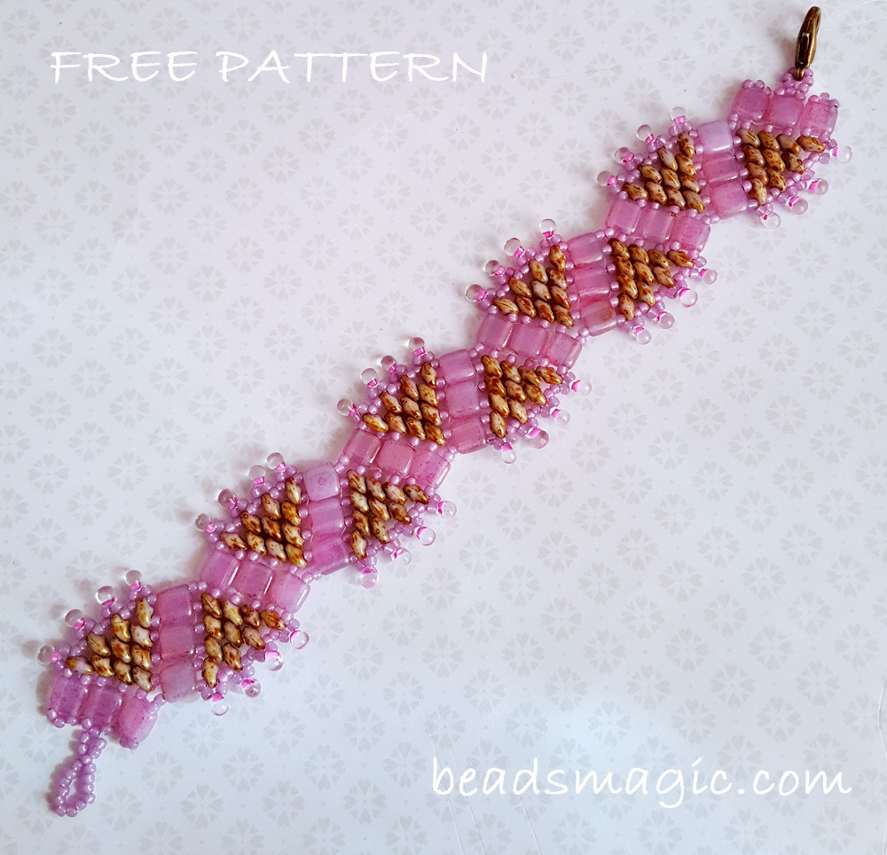 Free Pattern For Beaded Bracelet Princess Crown Beads Magic