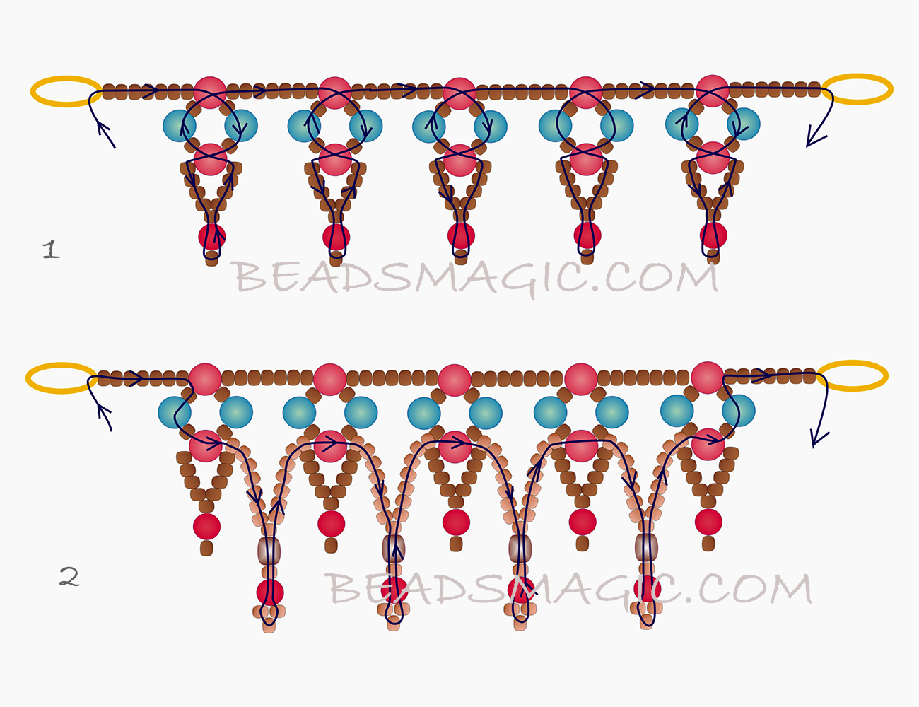 free-beading-tutorial-bracelet-necklace-pearls-2