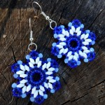 Free pattern for earrings Indigo